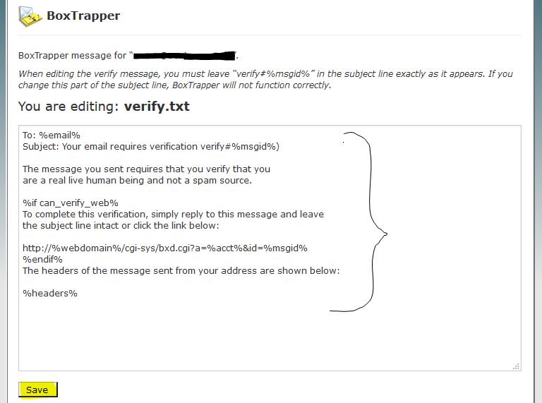 Box Trapper Edit Message
