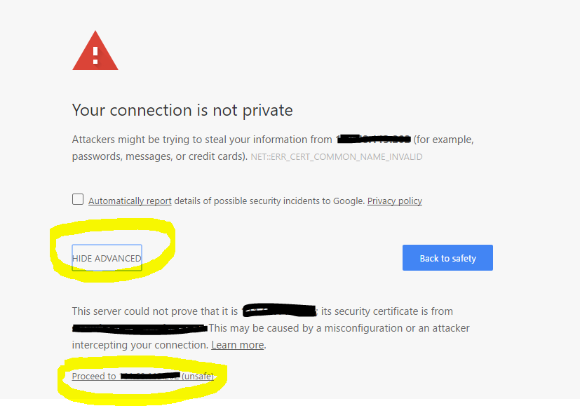 Mengatasi Your connection is not private masuk cPanel