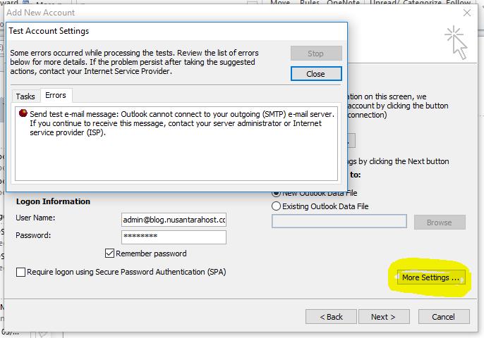 Cara Konfigurasi Email di Mail Client Microsoft Outlook