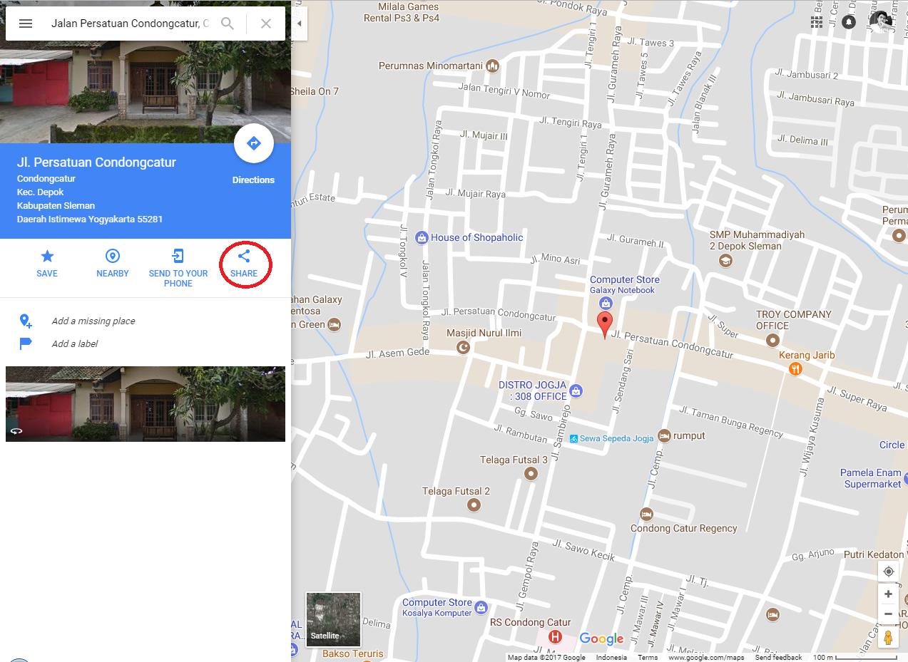 cara menambahkan lokasi google maps