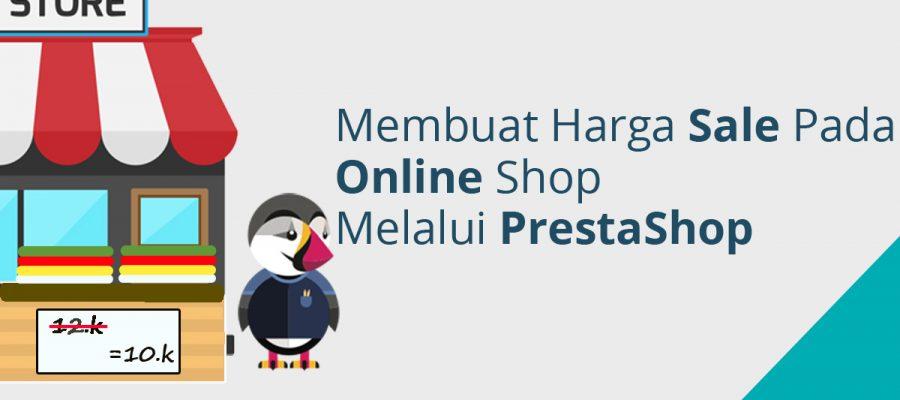 Membuat harga sale pada online shop melalui PrestaShop