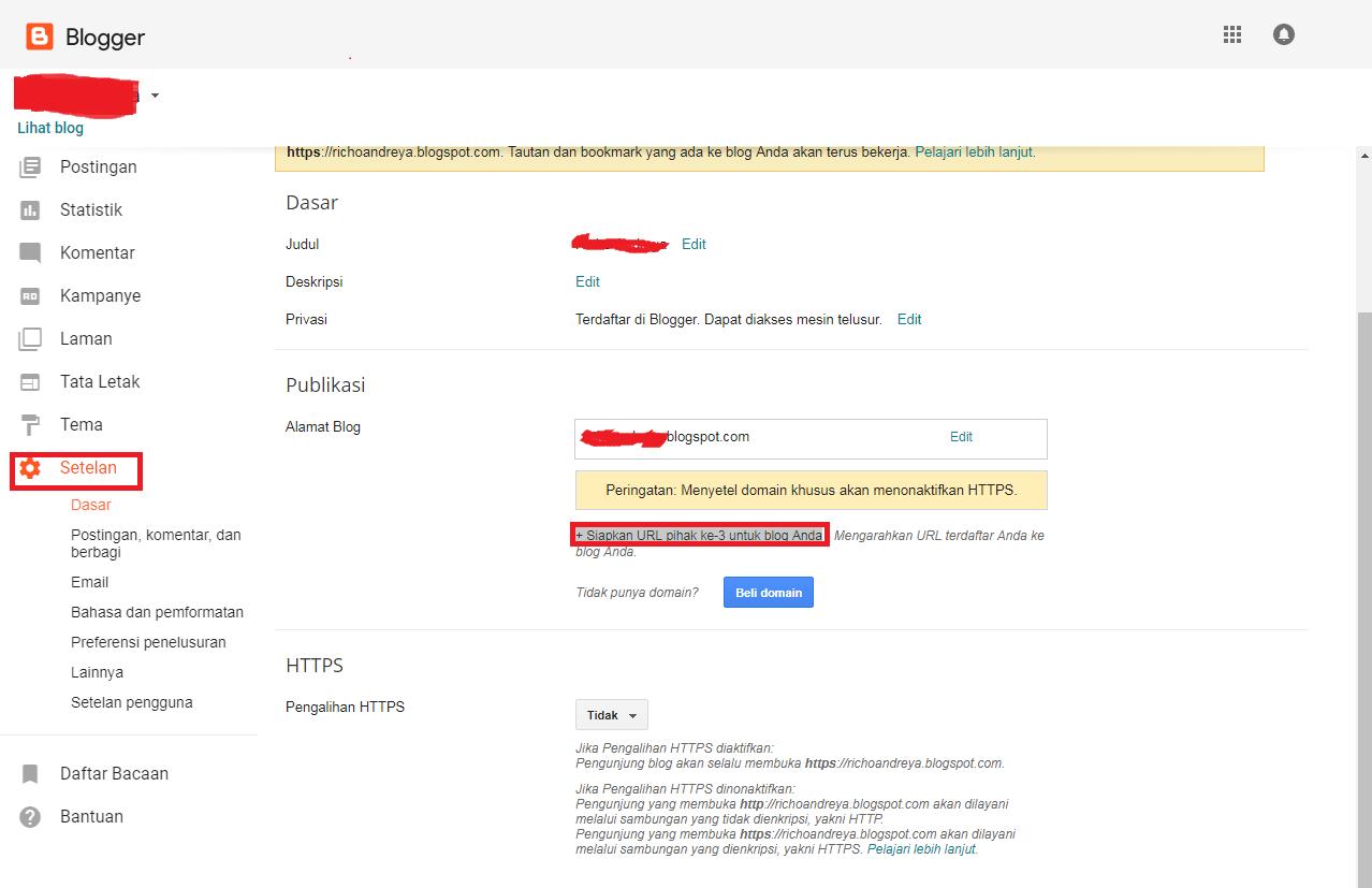 Cara Custom Domain Blogspot Nusantarahost