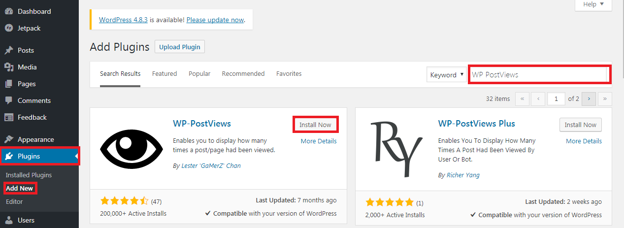 Cara menampilkan jumlah view pada artikel WordPress