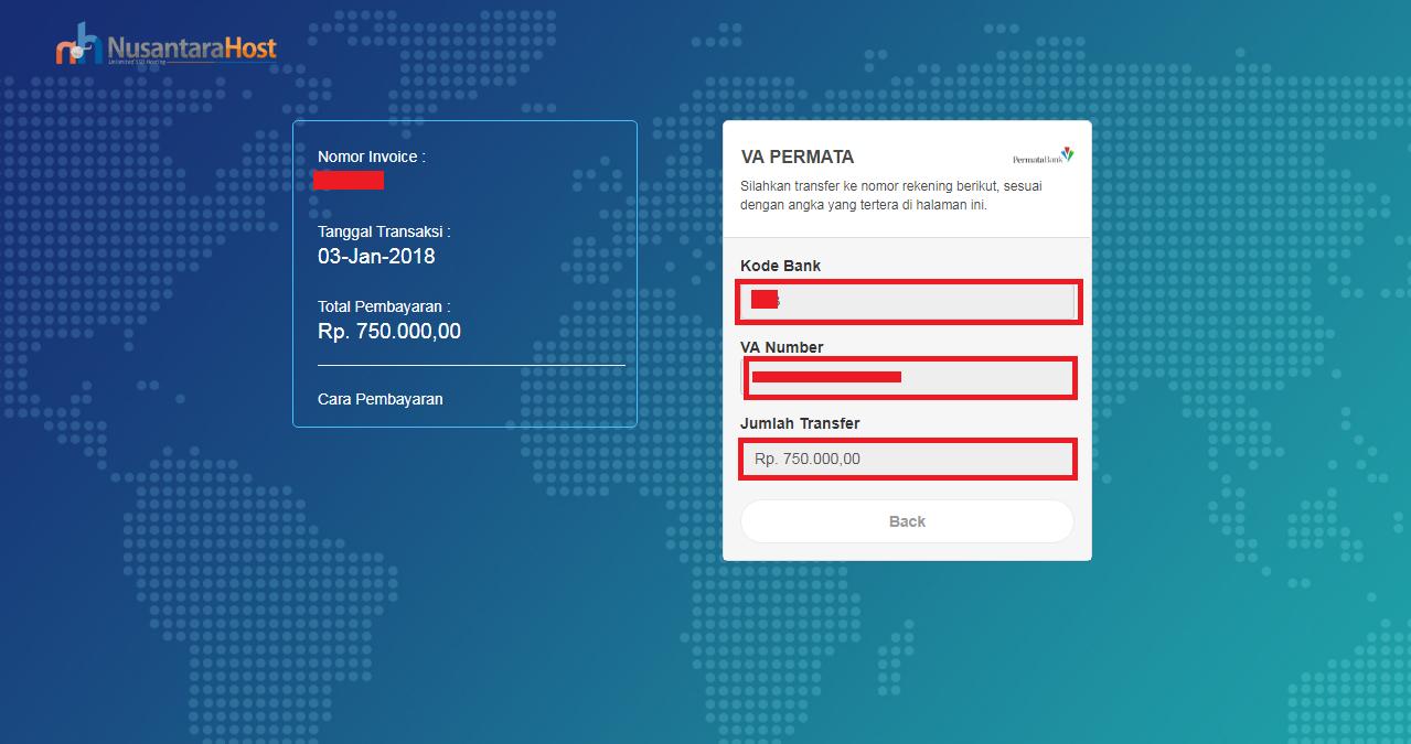 Cara Pembayaran Nusantarahost Melalui Virtual Account