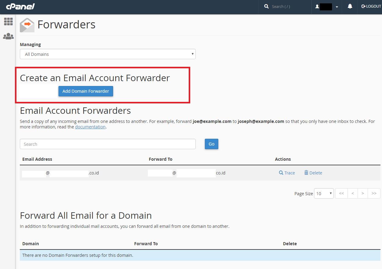 Cara Membuat Email Forwarding Melalui Cpanel